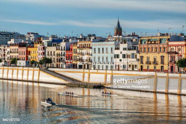 triana colors - seville stock pictures, royalty-free photos & images