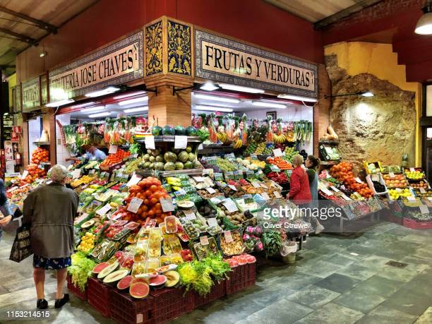 triana market - seville stock pictures, royalty-free photos & images