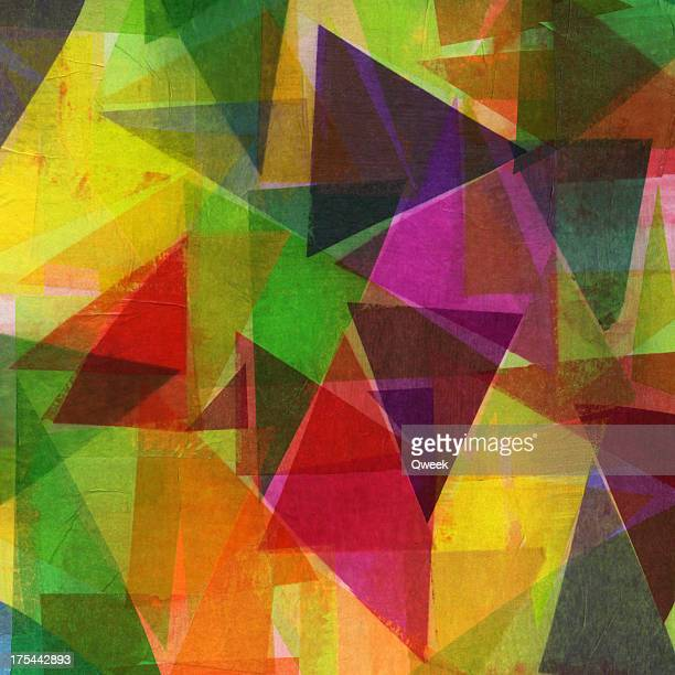 Triangle Collage Art