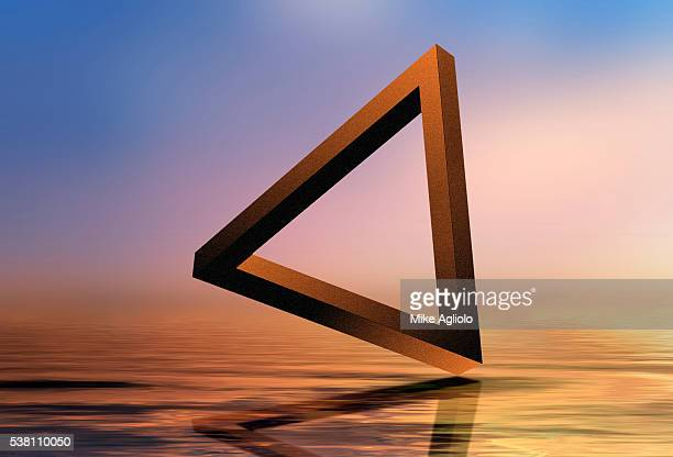Triangle Floating Over Water