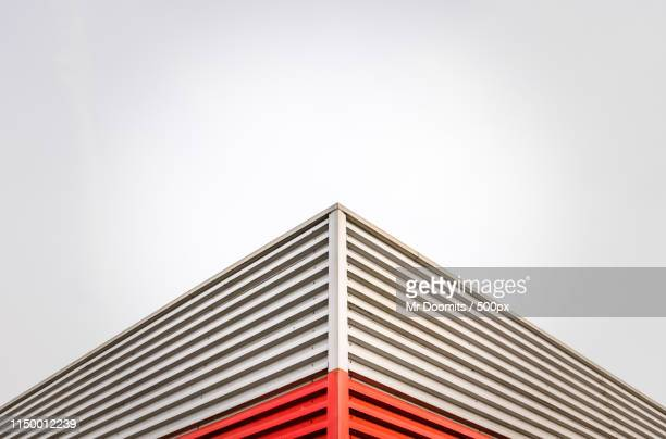triangular abstract architecture - symmetry stock pictures, royalty-free photos & images