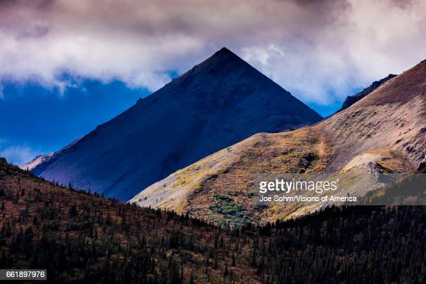 Triangular Pyramid Mountain Denali National Park Alaska seen from near Polychrome Incline
