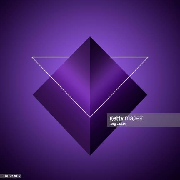 triangular shapes - pyramidform bildbanksfoton och bilder