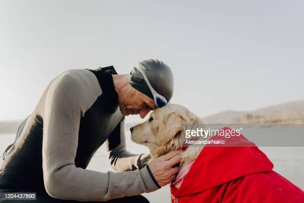 Triathlete and his dog