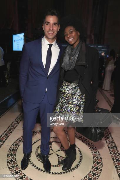 Triathlete Javier Gomez and Camilla Barungi attend the Adapt Leadership Awards Gala 2018 at Cipriani 42nd Street on March 8 2018 in New York City