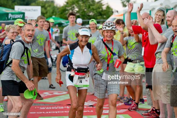 US triathlete Madonna Buder in action during the Datev Challenge Roth inHilpoltstein Germany 20 July 2014 The 83 year old nun from California whose...