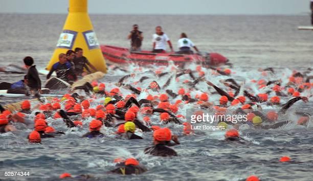 Triathlon Ironman Lanzarote 2004 Lanzarote Start Schwimmen 220504