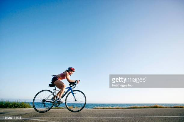 triathlon - cycling stock pictures, royalty-free photos & images