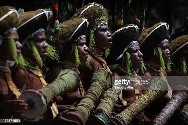 Tribal drumming and singing at Paiya Sing Sing