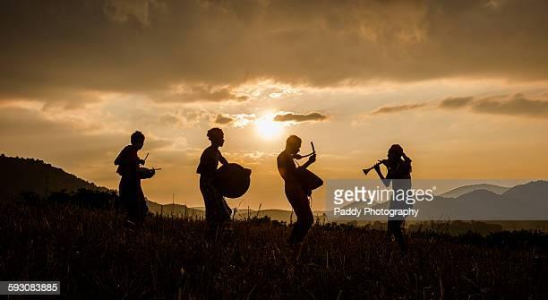 tribal musicians, araku valley - ヴィシャカパトナム ストックフォトと画像