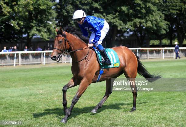 Tribal Quest ridden by William Buick goes to post