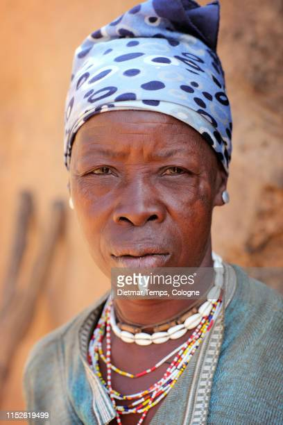 tribal woman at an egungun ceremony, benin - dietmar temps stock photos and pictures