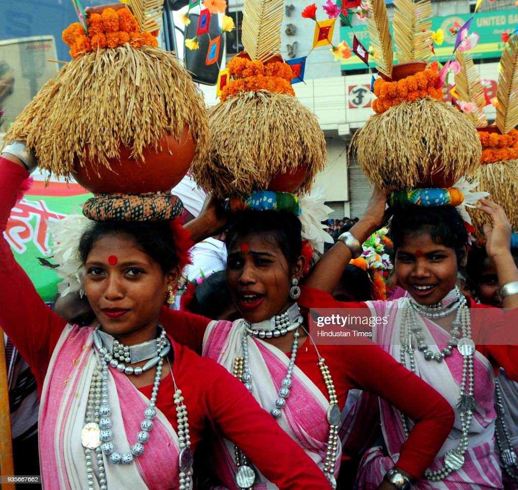 Sarhul Celebrations In Jharkhand : News Photo