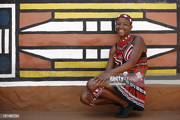 tribal zulu woman from south africa - zulu women stock pictures, royalty-free photos & images