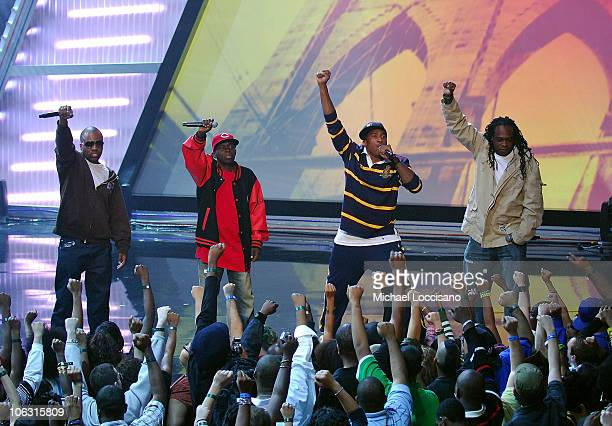 A Tribe Called Quest perform during the 2007 Vh1 Hip Hop Honors at Hammerstein Ballroom on October 4 2007 in New York City