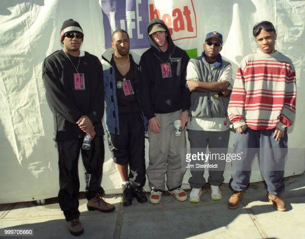 Tribe Called Quest poses for a portrait at Board Aid in Big Bear Lake California on March 15 1997