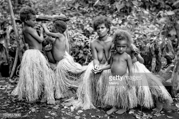 Tribe Community Indigenous Women and Children Tanna Island Rainforest Vanuatu