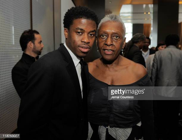 Tribeca All Access Director of Feature Programming Tamir Muhammad and Bethann Hardison attend the TFI Awards Ceremony during the 2011 Tribeca Film...