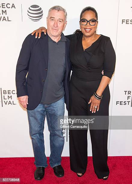 Tribeca Film Festival Cofounder actor Robert De Niro and Oprah Winfrey attends Tribeca Tune In 'Greenleaf' Screening during 2016 Tribeca Film...