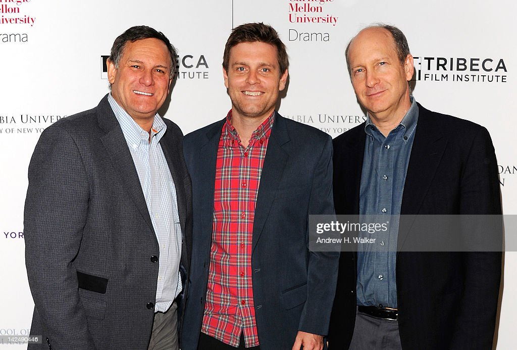 Tribeca Film Festival Co-Founder Craig Hatkoff, Tribeca Film Institute's Sloan Student Grand Jury Award winner Grainger David and Alfred P. Sloan Foundation's Doron Weber attend Tribeca Film Institute's Sloan Student Grand Jury Award Cocktails at RDV on April 5, 2012 in New York City.