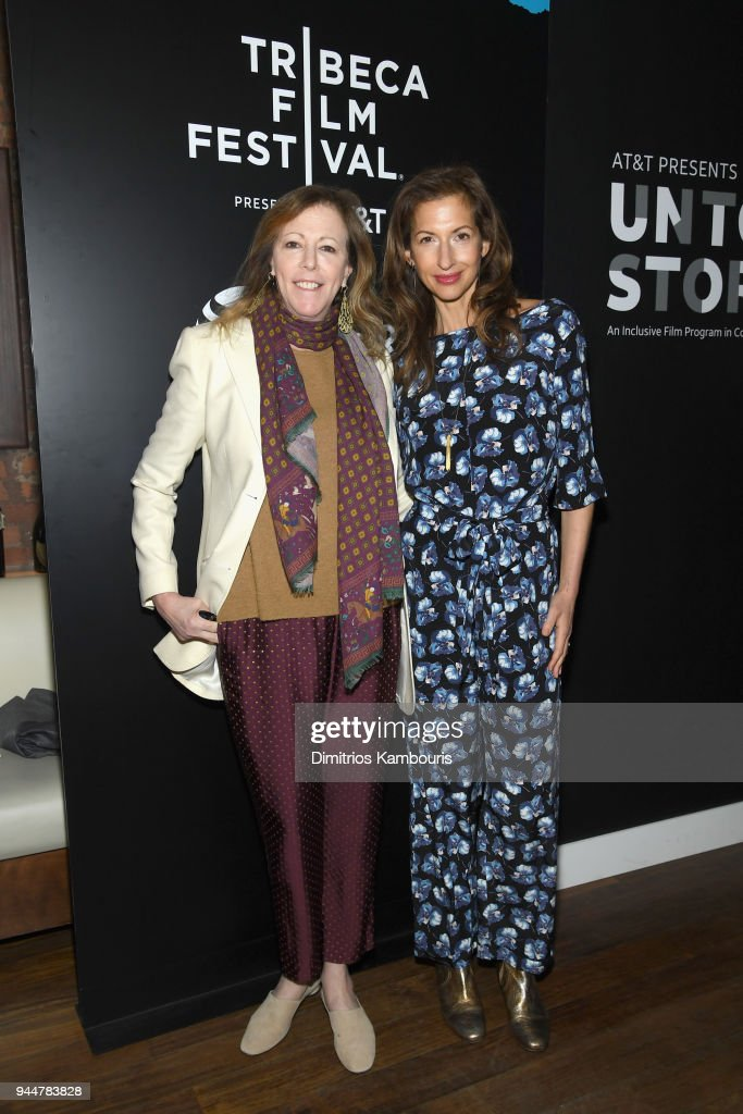 Tribeca Film Festival Co-Founder Jane Rosenthal (L) and actor Alysia Reiner attend as AT&T and Tribeca Host 2nd Annual Luncheon for AT&T Presents: Untold Stories. An Inclusive Film Program in Collaboration with Tribeca at Thalassa on April 11, 2018 in New York City.