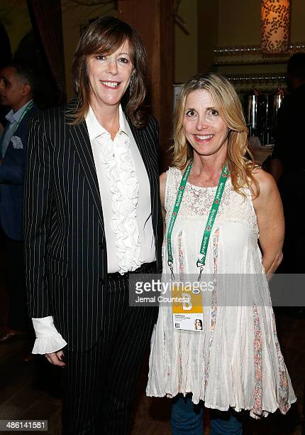 Tribeca Film Festival cofounder Jane Rosenthal and film director Karen Leigh Hopkins attend the 2014 Directors Brunch at the City Winery on April 22...
