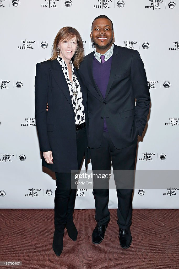 Tribeca Film Festival co-founder Jane Rosenthal and film subject Michael Tubbs attend the 'True Son' Premiere - 2014 Tribeca Film Festival at Chelsea Bow Tie Cinemas on April 20, 2014 in New York City.