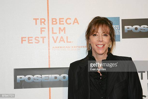 """Tribeca Film Festival co-founder Jane Rosenthal attend the """"Poseidon"""" premiere at the Tribeca Performing Arts Center May 6, 2006 in New York City."""