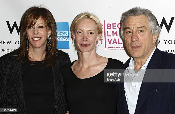 Tribeca Film Festival cofounder Jane Rosenthal Best Narrative feature winner Feo Aladag and Tribeca Film Festival cofounder Robert de Niro attend...
