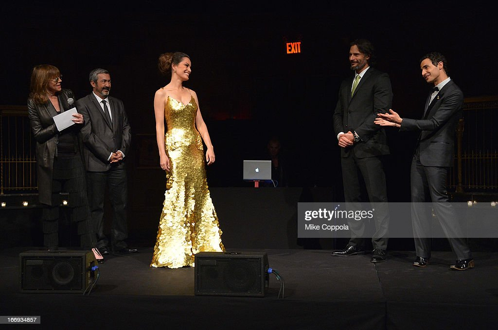 Tribeca Film Festival co-founder Jane Rosenthal, filmmaker Jon Cassar, actress Caroline Correa, actor Joe Manganiello, and fashion designer Zac Posen attend the 'As Good As Gold' MAGNUM Gold?! Film Premiere on April 18, 2013 in New York City.