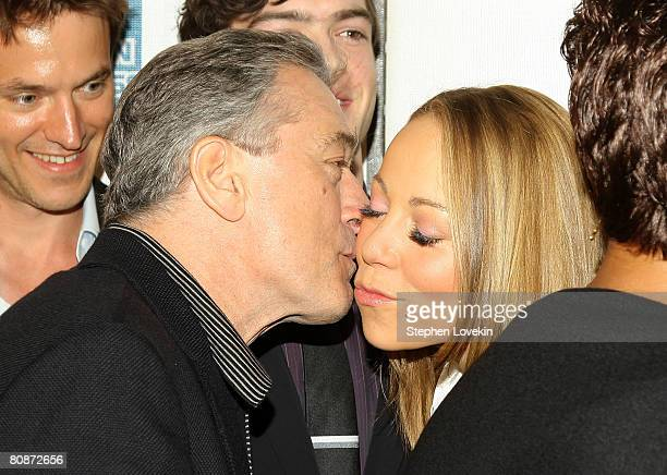 Tribeca Film Festival CoFounder Robert De Niro and actress/singer Mariah Carey attend the premiere of 'Tennessee' during the 2008 Tribeca Film...
