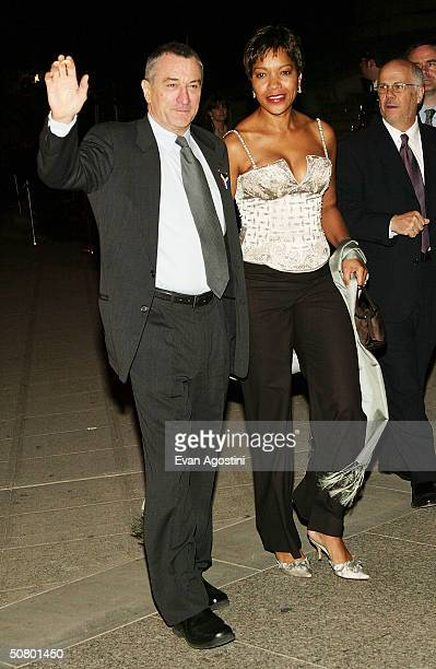 Tribeca Film Festival cofounder Robert De Niro and Grace Hightower attend the Vanity Fair party at the 2004 Tribeca Film Festival at The State...