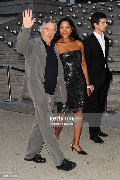 Tribeca Film Festival cofounder Robert De Niro and wife Grace Hightower attend the Vanity Fair party before the 2010 Tribeca Film Festival at the New...