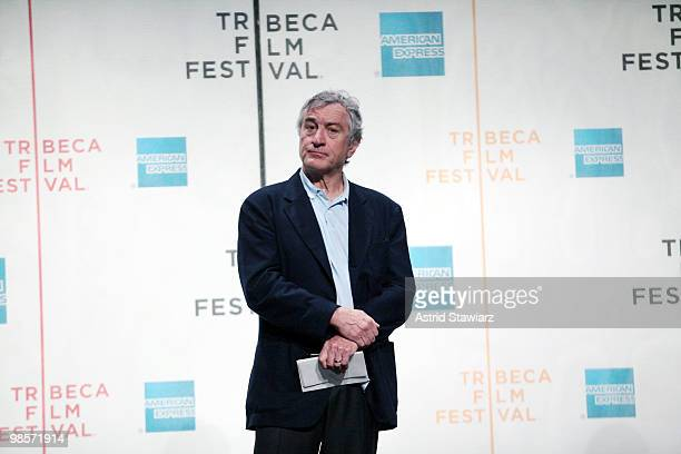 Tribeca Film Festival cofounder Robert De Niro attends the opening press conference for the 2010 Tribeca Film Festival at the Tribeca Performing Arts...