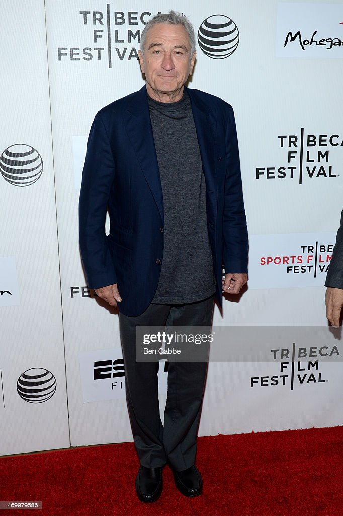 Tribeca Film Festival Co-founder Robert De Niro attends the Tribeca/ESPN Sports Film Festival Gala for the premiere of 'Play It Forward' during the 2015 Tribeca Film Festival at BMCC Tribeca PAC on April 16, 2015 in New York City.
