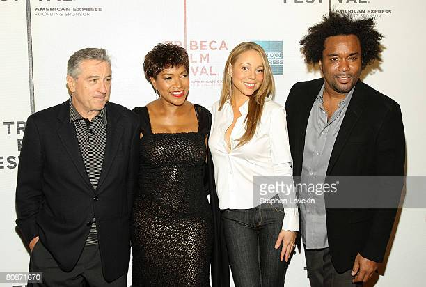 Tribeca Film Festival cofounder Robert De Niro Grace Hightower singer/actress Mariah Carey and director Lee Daniels attend the premiere of...