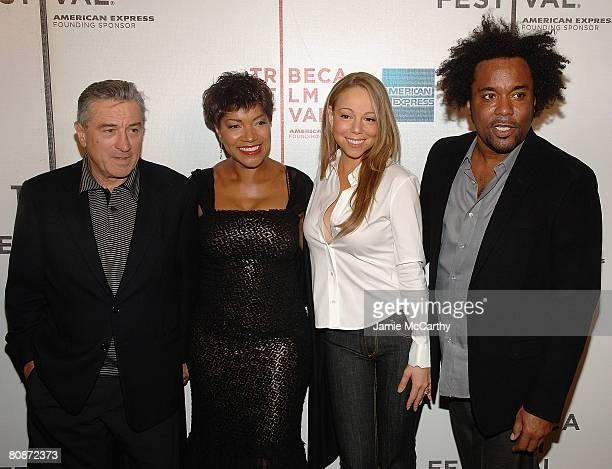 Tribeca Film Festival cofounder Robert De Niro Grace Hightower singer/actress Mariah Carey and director Lee Daniels attend the 7th Annual Tribeca...
