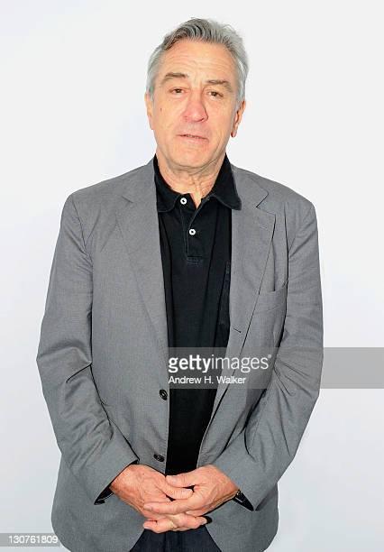 Tribeca Film Festival cofounder Robert De Niro poses for a portrait in the portrait studio at Katara Cultural Village during the 2011 Doha Tribeca...