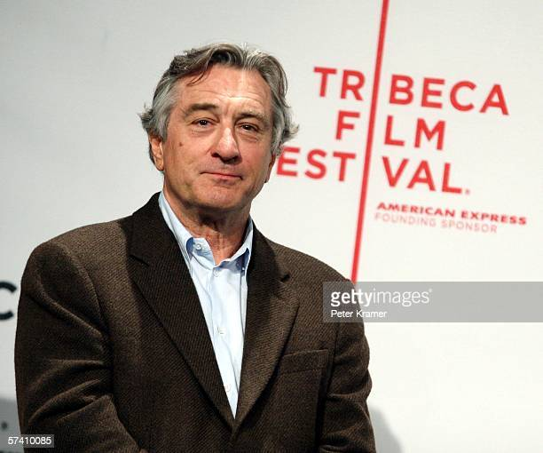 Tribeca Film Festival CoFounder Robert De Niro speaks at the opening press conference to kick off the 5th Annual Tribeca Film Festival at the Tribeca...