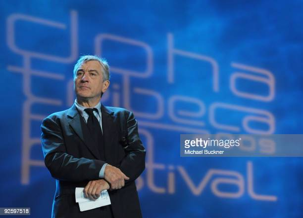 Tribeca Film Festival Cofounder Robert De Niro speaks onstage at the DTFF Closing Night Ceremony at the Museum of Islamic Art during the 2009 Doha...