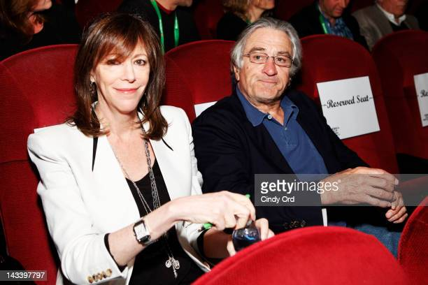 Tribeca Film Festival CoFounders Jane Rosenthal and Robert De Niro attend Tribeca Talks Industry Illicit Networks Portrayal Through Film during the...