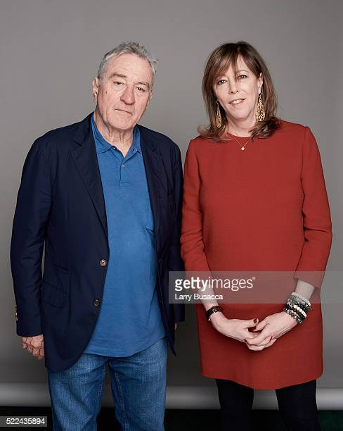 Tribeca Film Festival cofounders Robert De Niro and Jane Rosenthal pose for a portrait during the Juror Welcome Lunch at the 2016 Tribeca Film...
