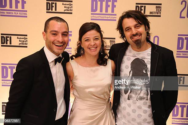 Tribeca Film Festival coprogrammer Chadi Zeneddine Doha Tribeca Film Festival coprogrammer Hania Mroue and Scandar Copti attend the Awards Show and...