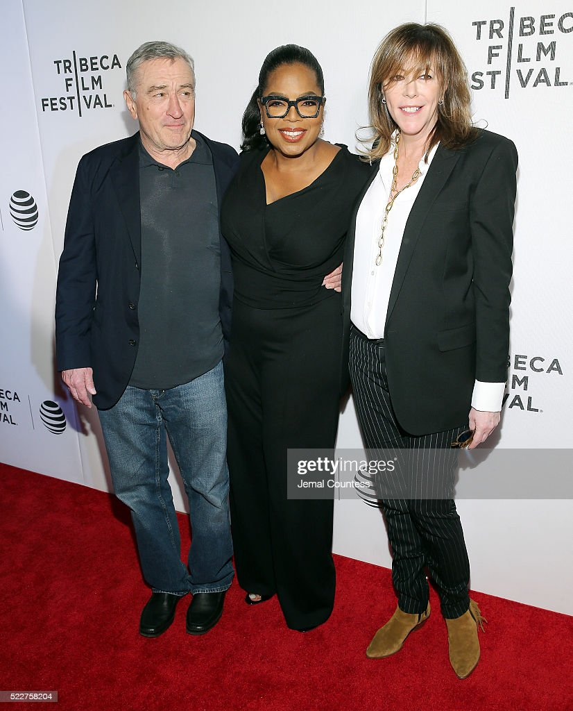 Tribeca Film Festival Founder Robert De Niro, actress/executive producer Oprah Winfrey and executive chair of Tribeca Enterprises Jane Rosenthal attend the Tribeca Tune In: 'Greenleaf' Screening at John Zuccotti Theater at BMCC Tribeca Performing Arts Center on April 20, 2016 in New York City.