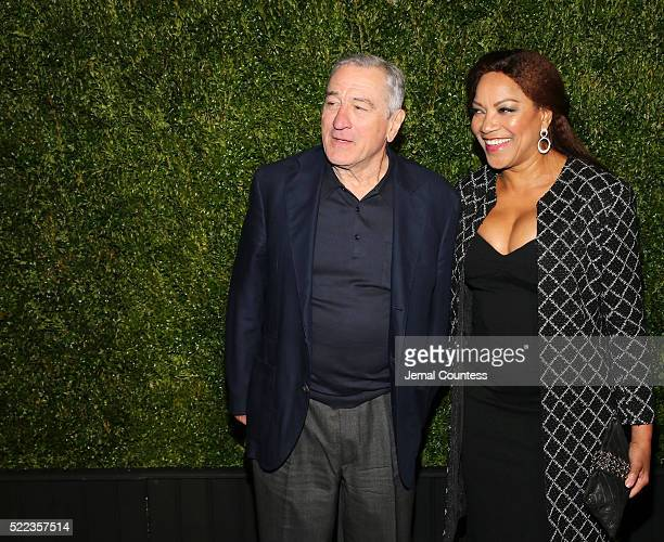 Tribeca Film Festival Founder Robert De Niro and Grace Hightower attend the 11th Annual Chanel Tribeca Film Festival Artists Dinner at Balthazar on...
