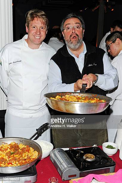 Tribeca Grill Chef Stephen Lewandowski and Drew Nieporent attend the 16th Annual Bid Against Hunger Tasting Event hosted by City Harvest at...