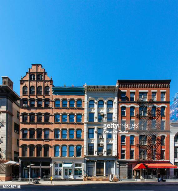 tribeca neighborhood in new york city, usa - facade stock pictures, royalty-free photos & images