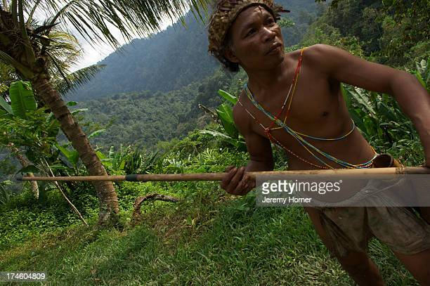 Tribesman with blowpipe Cameron Highlands