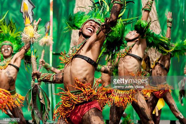 CONTENT] Tribu Paghidaet perform during the AtiAti competition of the 2011 Dinagyang Festival in Iloilo City the PhilippinesHeld every year during...