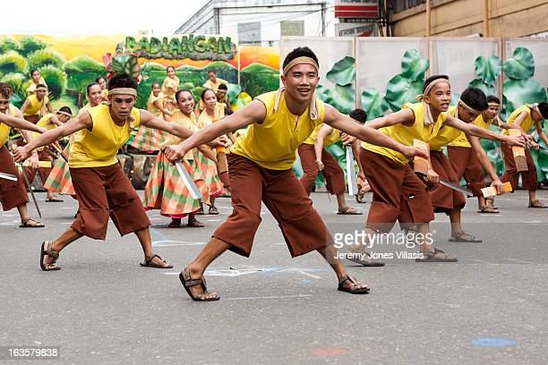 Tribu Pandayan, one of the nine competing groups during the Kasadyahan competition of the 2011 Dinagyang Festival in Iloilo City, the Philippines,...